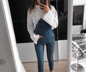 aesthetic, dungarees, and outfit image