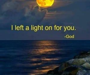 god, nightlight, and moon image