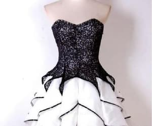 black prom dress, cute homecoming dresses, and prom dress short image