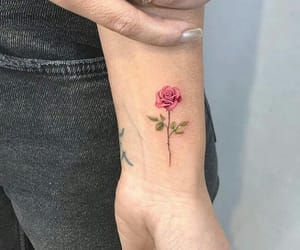 arm, flowers, and green image