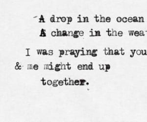 Lyrics, song, and a drop in the ocean image