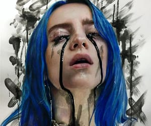 drawing and billie eilish image
