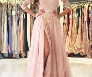 long prom dresses, lace prom dresses, and a-line prom dresses image