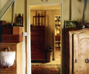attic, doorway, and old house image