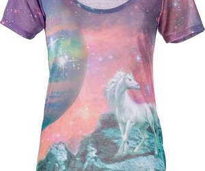 t-shirt, unicorn, and cute image