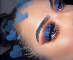 blue, eye makeup, and eyebrows image