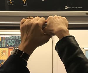 hands, couple, and love image
