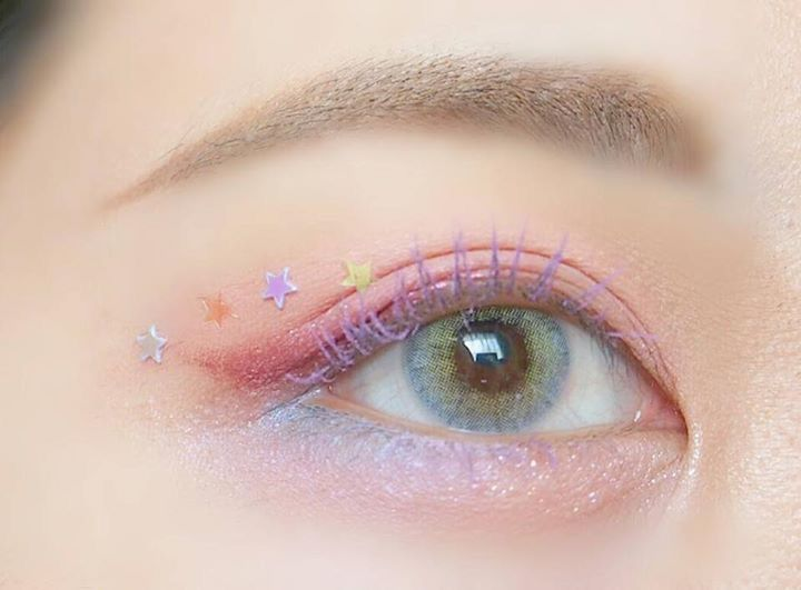eyes, pink, and aesthetic image