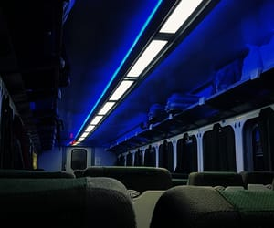 aesthetic, blue, and train image