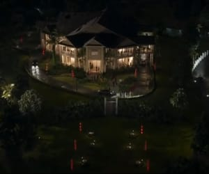 dark, mansion, and house image