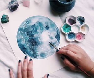 beauty, painting, and watercolor image