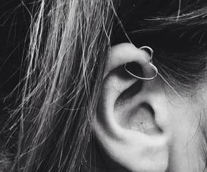 heart, piercing, and earrings image