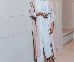 Blanc, hijab, and rose image