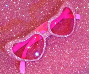 pink, glitter, and glasses image