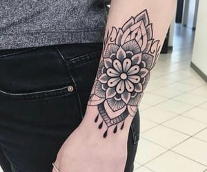black, cool, and flowers image