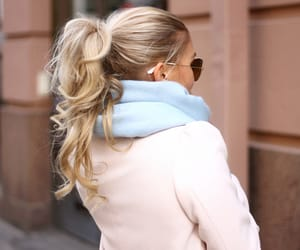blonde, blonde hair, and fashionista image