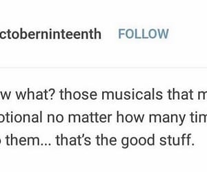 broadway, musicals, and textpost image