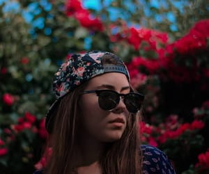 cap, flowers, and lovablemaria image
