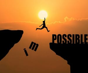 impossible and motivational image