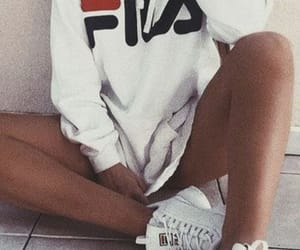 blue, Fila, and girl image