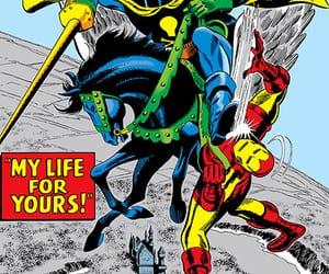 iron man, marvel comics, and black knight image