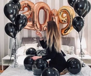 balloons, black, and resolutions image