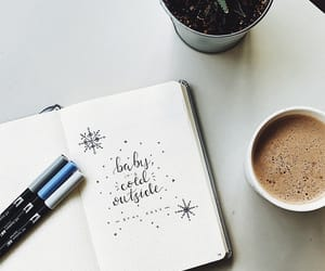 bullet, coffee, and journal image
