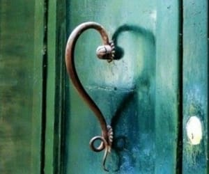door, grunge, and heart image