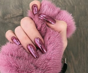 nails, pink, and kylie jenner image