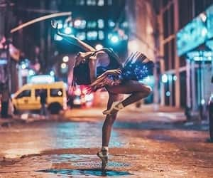 light, dance, and girl image