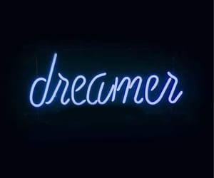 dreamer, wallpaper, and neon image