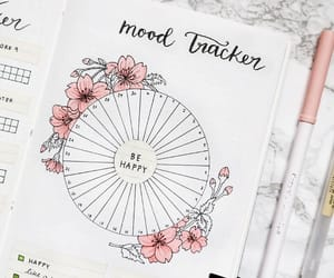bullet journal, college, and pink image