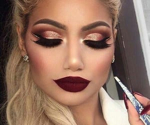 girl, make up, and perfect image