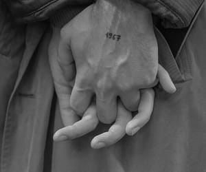 couple, black and white, and hands image