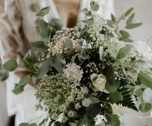 bohemian, bouquet, and bride image