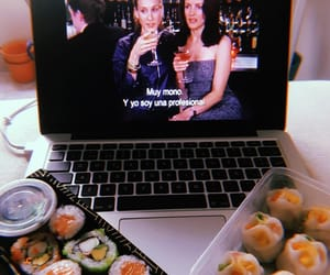 Carrie Bradshaw, charlotte, and food image