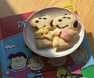 bread, food, and snoopy image