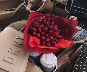 luxury, car, and strawberry image
