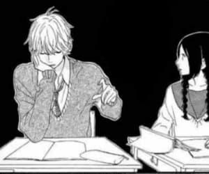 black and white, manga, and anime boy image
