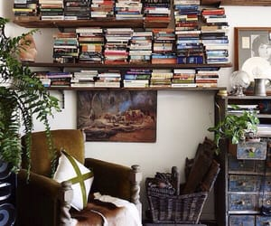 books, reading, and decoration image