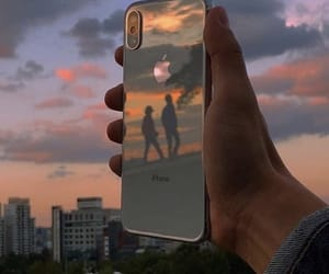 iphone, sunset, and aesthetic image