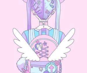 kawaii, pink, and art image