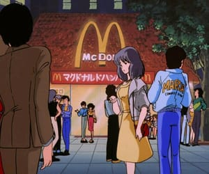 anime, aesthetic, and 80s image