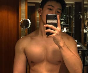 asian, fitness, and korean boy image