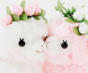 cute, pink, and white image