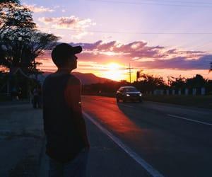 boy, sunset, and vsco image