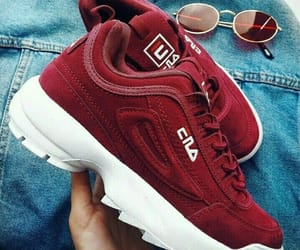 Fila, red, and shoes image