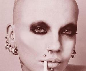 tattoo, cigarette, and piercing image