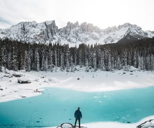 adventure, winter, and lake image