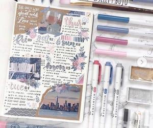 diy, bullet journal, and weekly spread image